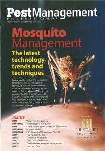 Pest Management cover with mosquito
