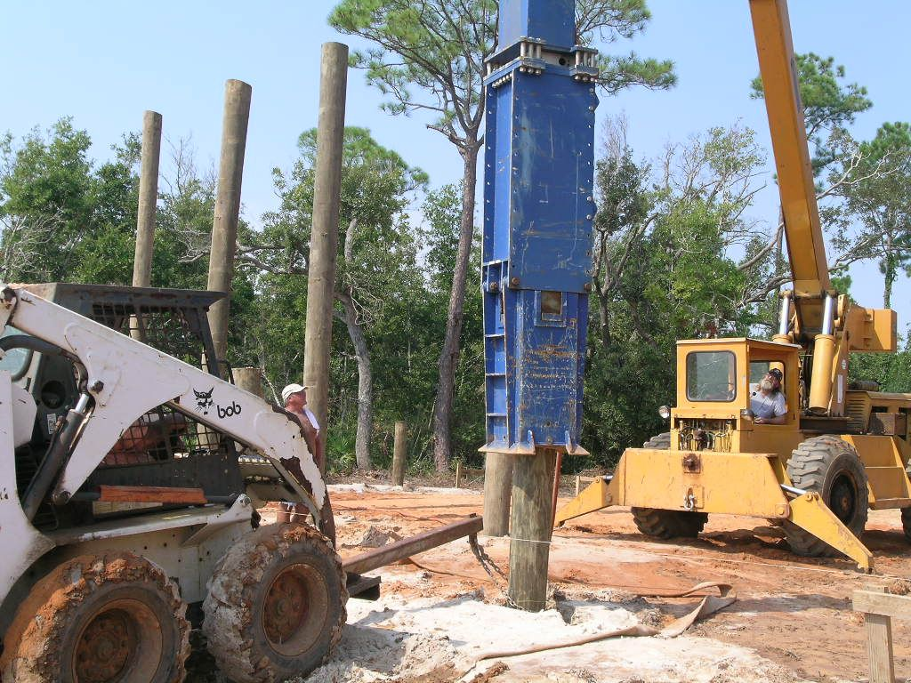 Extra edition foundation types and termites piling for Wood piling foundation