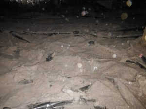 dryer lint in crawl space