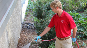 Superior pest termite and mosquito control palmetto exterminators man with glasses using pest control spray on house exterior solutioingenieria Image collections
